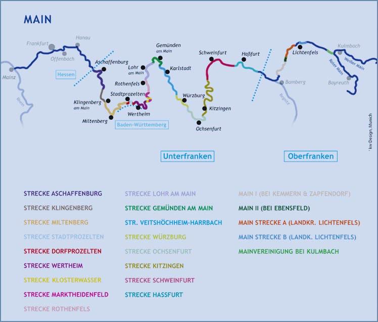 Karte Oberfranken Unterfranken Mittelfranken.Fanggebiete Die Besten Platze Fur Angler Im Netz Angeln An