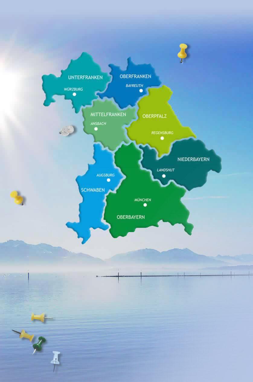 Karte Oberbayern.Angeln In Bayern Bayern Fanggebiete